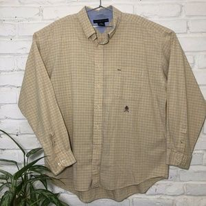 Tommy Hilfiger Mens XXL Yellow Long Sleeve Casual